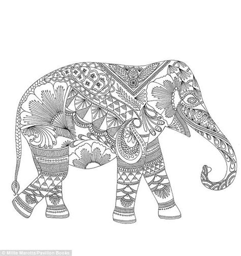 elephant design coloring page queen of colouring books artist sells 500k copies to