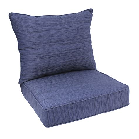 Sit Cushions Shop Allen Roth Navy Seat Patio Chair Cushion At