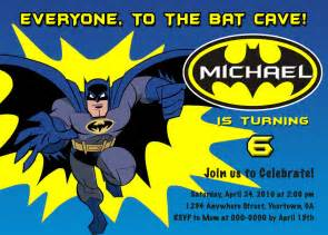 batman personalized birthday invitations you by