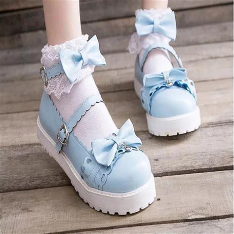 unbranded light blue lolita shoes shoes lace market