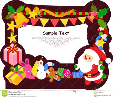 a cutie idea for a christmas picture fram frame royalty free stock photography image 17344507