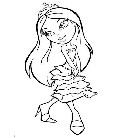 coloring pages bratz dolls free printable bratz coloring pages for kids