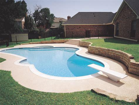 Brick Patio Wall Custom Inground Pools For Under 45 000 Pool Builders