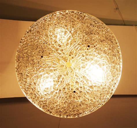 j t kalmar textured glass ceiling light for sale at 1stdibs