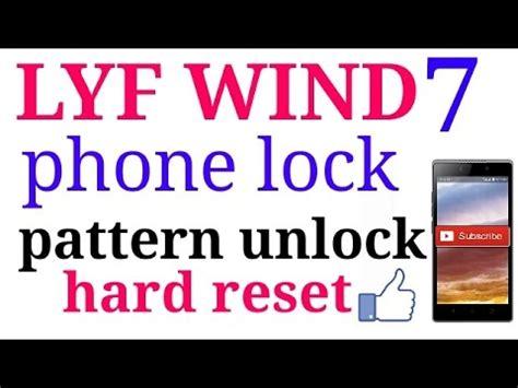 youtube unlock pattern lock how to unlock pattern lock in lyf wind 7 youtube