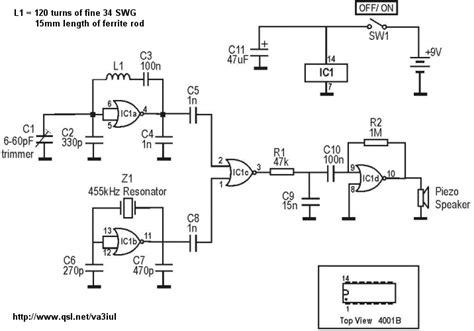 bfo metal detector circuit diagram sensors detectors metal detectors electronic circuits