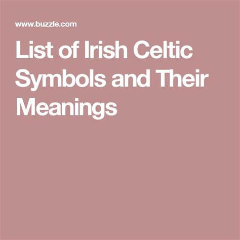 list of tattoo meaning a list of truly enchanting irish celtic symbols and their