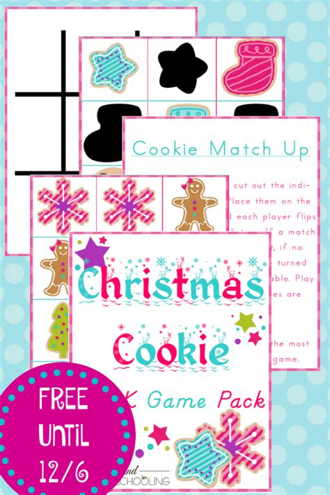 printable christmas party games pack download free cookie preschool pack money saving 174