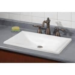Cheviot estoril white drop in rectangular bathroom sink at lowes com