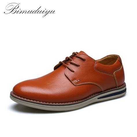 soft comfort brand shoes bimuduiyu ultra soft comfort genuine leather shoes men s