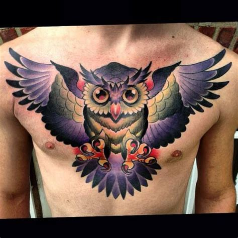 chest and back tattoo 30 owl chest and back tattoo ideas for men and women