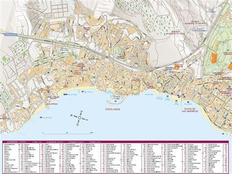 printable map tenerife adeje plan de la ciudad mapas imprimidos de adeje