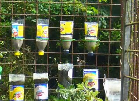 bottle tower gardens provide exceptionally efficient small