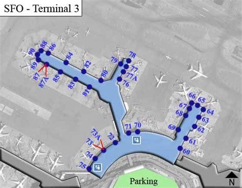 san francisco airport map terminal sfo san francisco airport terminal maps