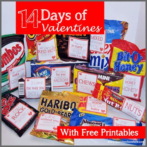 14 days valentines ideas 14 days of valentines free printables sparkles of