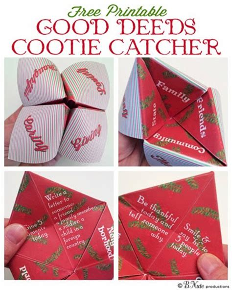 printable christmas fortune teller bnute productions free printable good deeds cootie