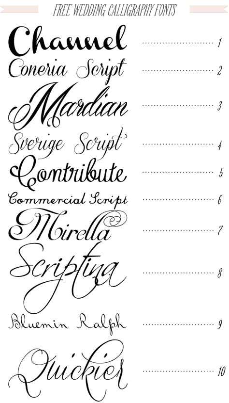Wedding Invitation Letter Type Free 40 Fonts For Diy Printable Wedding Invitations Channel Typography Fonts