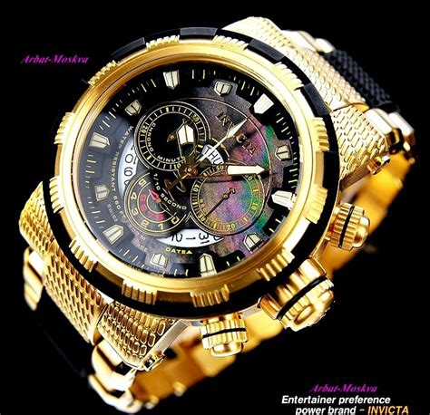 invicta s reserve 18k yellow gold plated and black