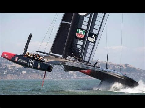 hydrofoil catamaran oracle oracle team usa back to the bay youtube