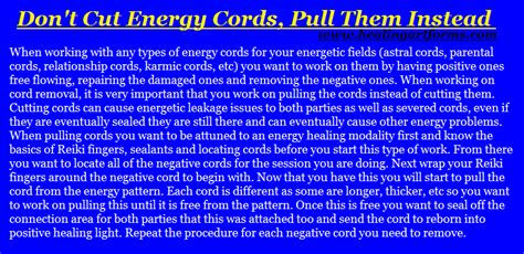 dont cut energy cords pull   reiki  friends