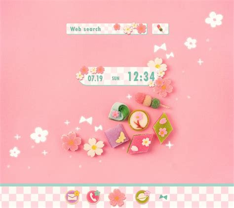 cute japanese themes for android cute theme japanese treats 1mobile com