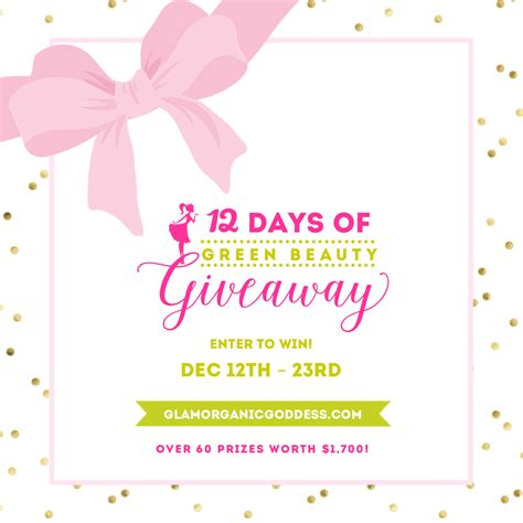 Beauty Giveaway - green your glam it s the 12 days of green beauty giveaway the glamorganic goddess
