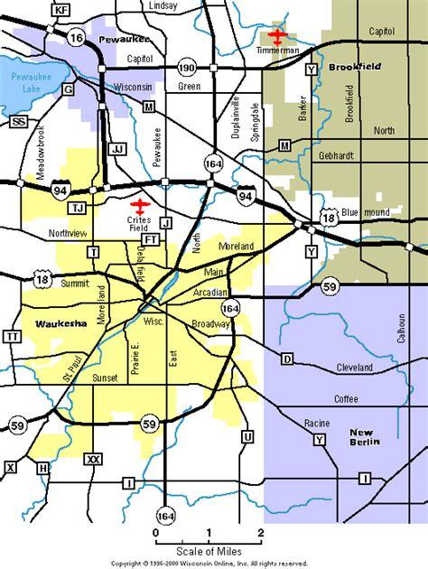 Waukesha County Records Recent Waukesha City Map Waukesha County Wisconsin Waukesha County Wi