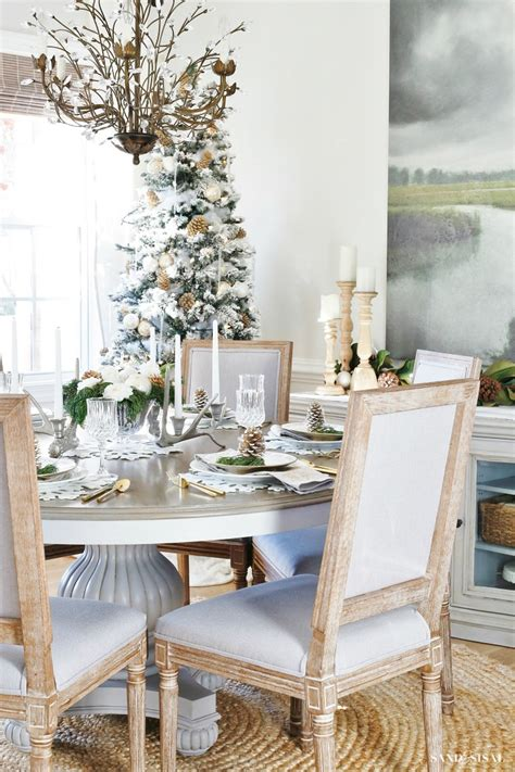 coastal dining room makeover sand and sisal coastal white christmas family room sand and sisal