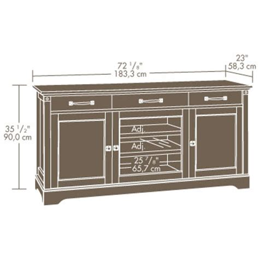 Rak Tv Cabinet Credenza 150 sauder carson forge tv credenza 415572