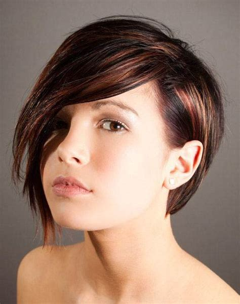 short haircut with red tint and highlights copper red brown the latest trends in women s hairstyles