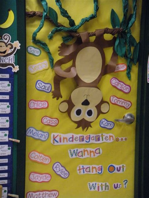monkey themed classroom decorations monkey theme classroom our door welcome to kindergarten