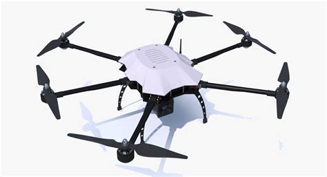 Drone Hexacopter 3d obj drone copter hexacopter
