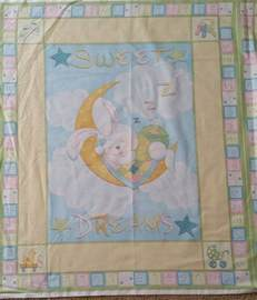 brand new baby cot quilt panel ebay