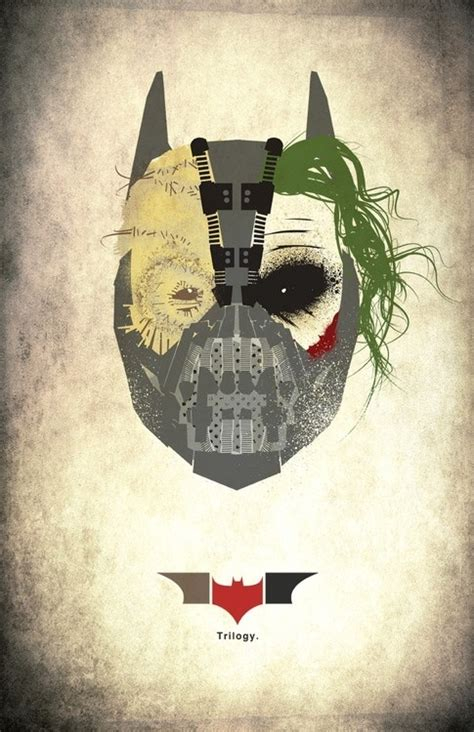 minimalist joker tattoo nolan s batman trilogy portrayed in one mask scarecrow