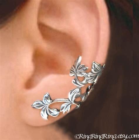 sterling silver earrings ear cuffs leaf ear cuffs sterling silver earrings sterling silver