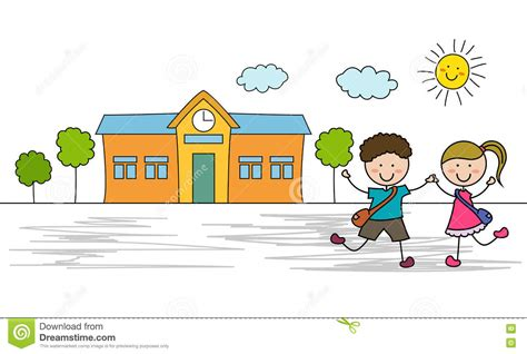 Go To by Go To School Royalty Free Stock Photography