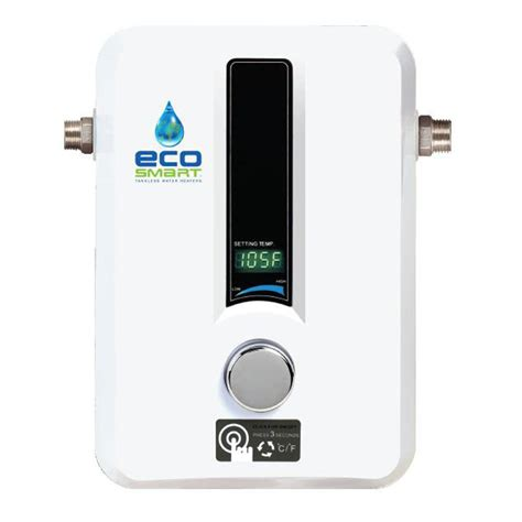 ecosmart 11 kw self modulating electric tankless water