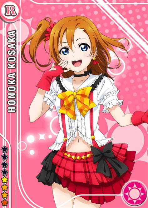 live school idol festival card template school idol tomodachi cards album 284 kousaka honoka r