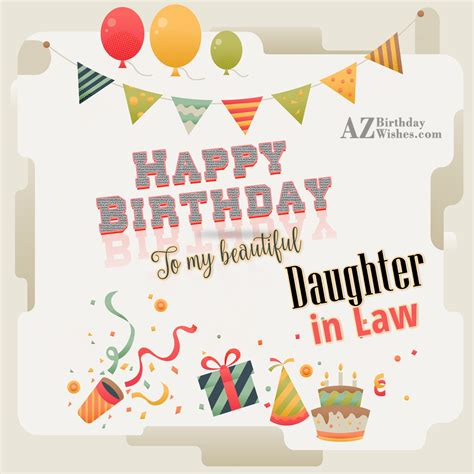 Happy Birthday Wishes To My In Birthday Wishes For Daughter In Law