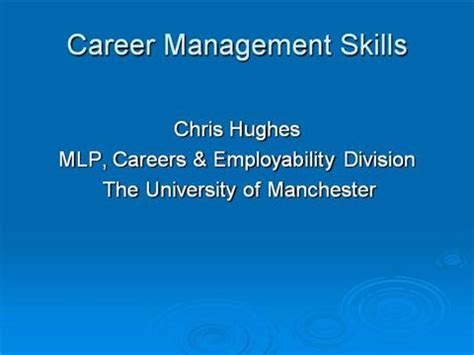 Mba Presentation Tips by Career Management Skills Authorstream