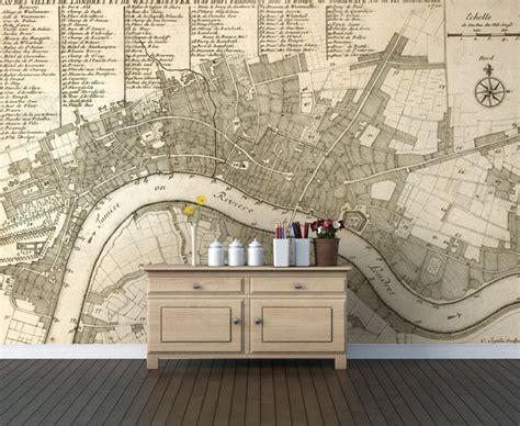 wallpaper for walls london essential trend antique map wallpaper l essenziale