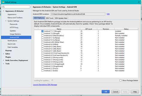 Where Android Sdk Folder by Missing Extras Folder In Sdk Manager In Android Studios