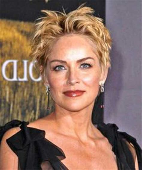 sharon stone hairband sharon stone short hairstyles haircuts pinterest
