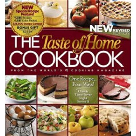 the taste of home cookbook new revised one recipe four