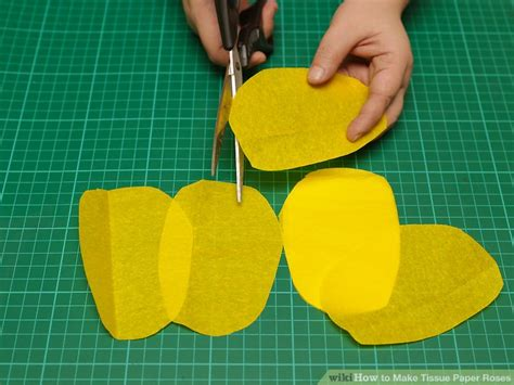 Ways To Make Paper - 3 ways to make tissue paper roses wikihow
