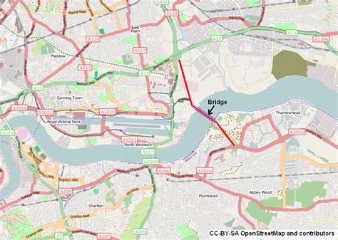river thames scheme map thames gateway bridge wikipedia