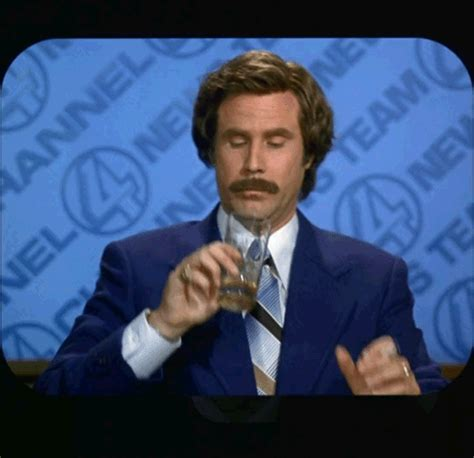 Ron Burgundy Scotch Meme - drunk gif find share on giphy