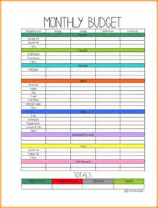 6 monthly budget planner worksheet authorization letter