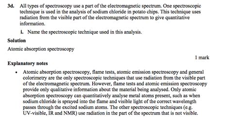 spectroscopy tutorial questions homework uv visible spectroscopy in the analysis of