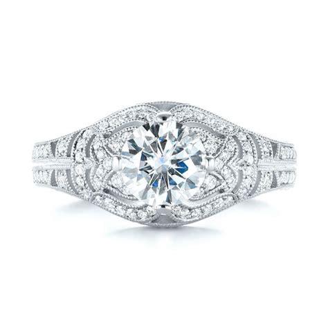 vintage inspired engagement ring 103511